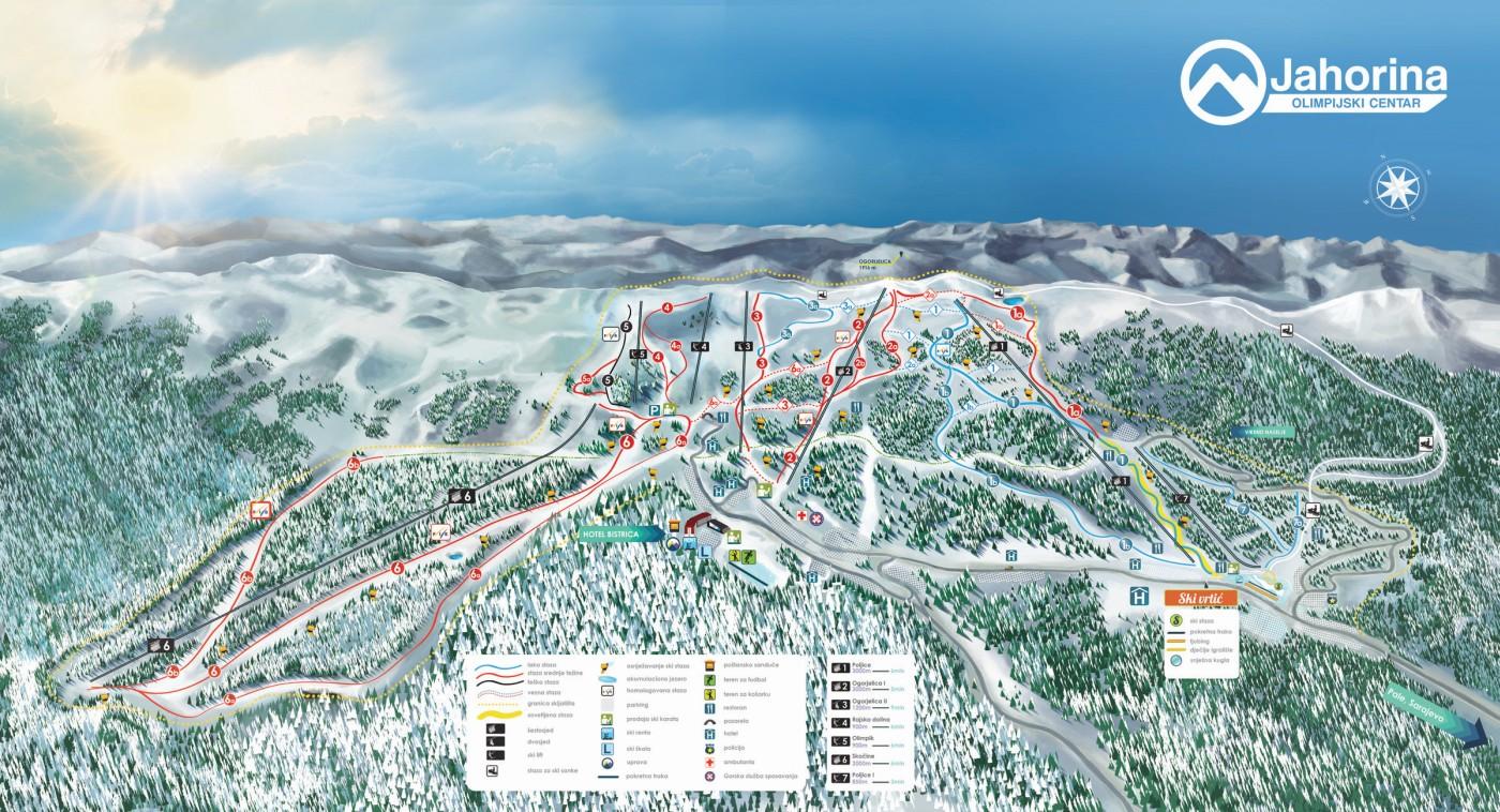 beograd jahorina mapa Olympic center Jahorina – Olimpijski centar Jahorina beograd jahorina mapa