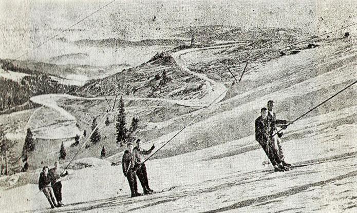 Ski lift Rajska dolina nekada